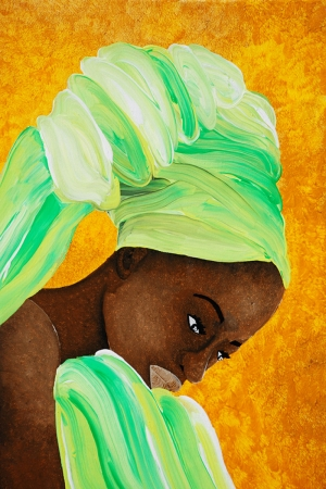 Afrikalı Kadınlar-4 Sanat Kanvas Tablo