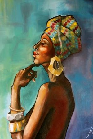Afrikalı Kadınlar-5 Sanat Kanvas Tablo