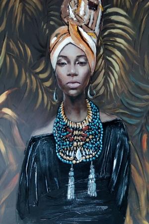 Afrikalı Kadınlar-6 Sanat Kanvas Tablo