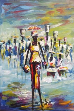 Afrikalı Kadınlar-7 Sanat Kanvas Tablo