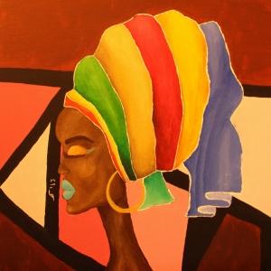 Afrikali Kadinlar-9 Sanat Kanvas Tablo