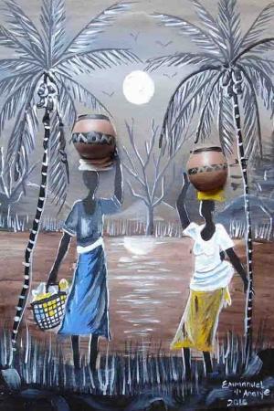 Afrikali Kadınlar Sanat Kanvas Tablo