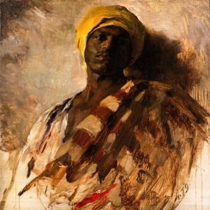 Afrikalı Koruma Portre 1 Yağlı Boya Dekoratif Modern Kanvas Tablo