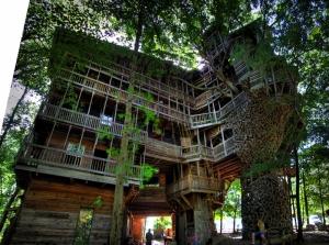 Ağaç Ev Doğa Manzaraları Kanvas Tablo