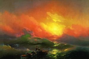 Aivazovsky Ivan The Ninth Wave Yağlı Boya Sanat Kanvas Tablo