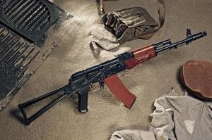 Ak 74 Kalashnikov Askeri Kanvas Tablo