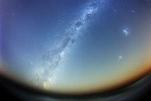 Akşam Gökyüzü Yıldızlar Dağlar 4 Dünya & Uzay Kanvas Tablo