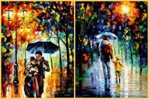 Akşam Işıkları Şehir Manzaraları Afremov 33 Sanat Kanvas Tablo