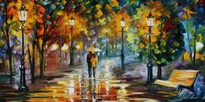 Akşam Işıkları Şehir Manzaraları Afremov 51 Sanat Kanvas Tablo