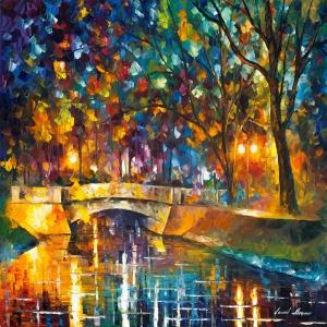 Akşam Işıkları Şehir Manzaraları Afremov 7 İç Mekan Dekoratif Kanvas Tablo