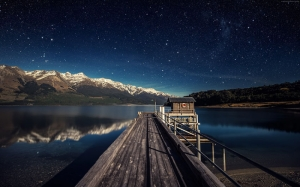 Akşam ve Gökyüzü Dünya & Uzay Kanvas Tablo