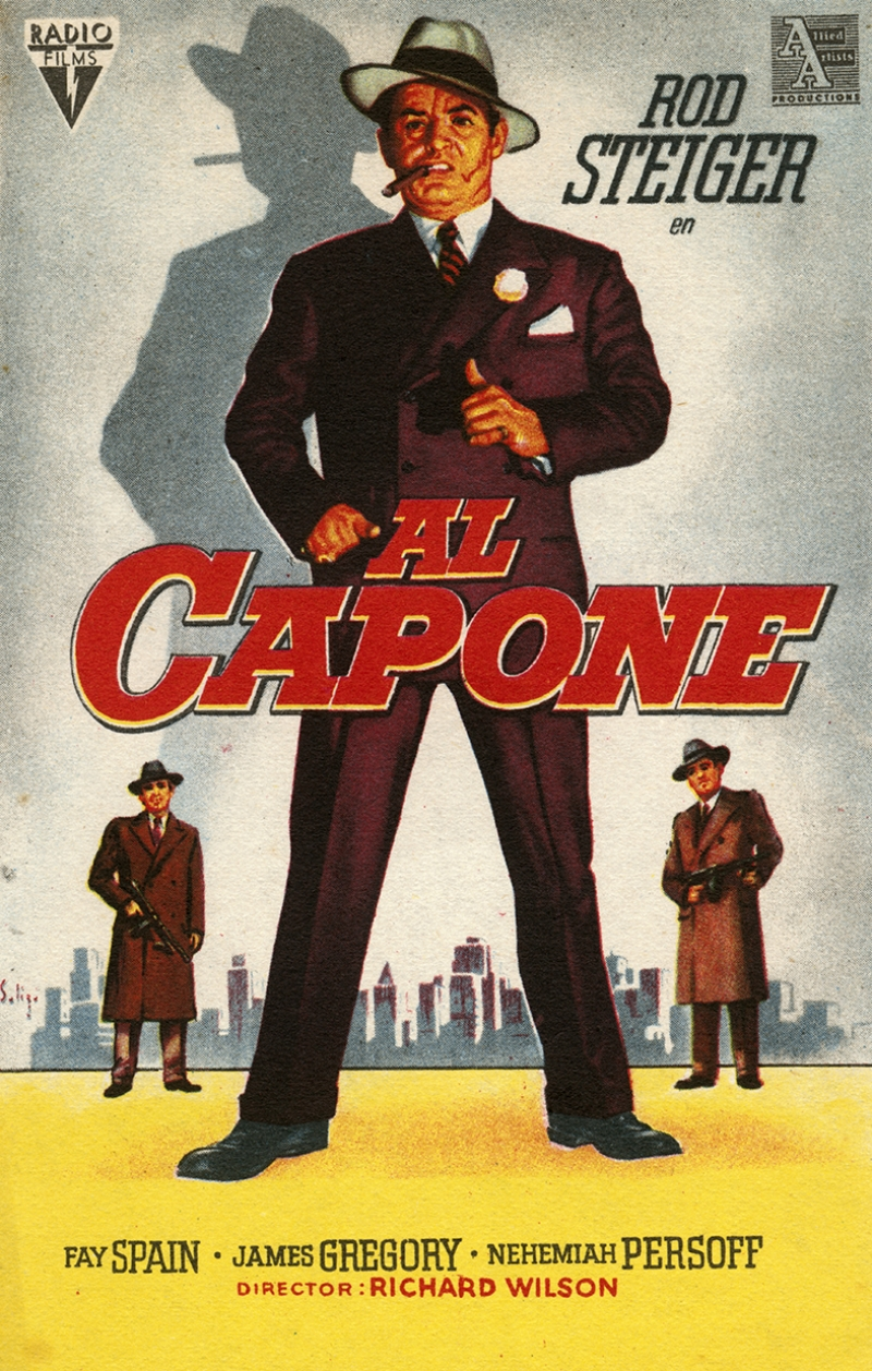 Al Capone Retro Afiş Kanvas Tablo