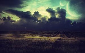 Alacakaranlık Doğa Manzaraları Kanvas Tablo