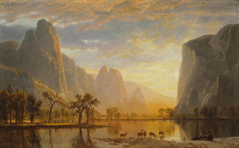 Albert Bierstadt Valley Of The Yosemite Yağlı Boya Sanat Kanvas Tablo