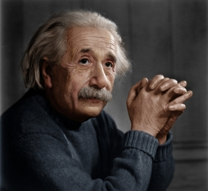 Albert Einstein 2 Ünlü Yüzler Kanvas Tablo