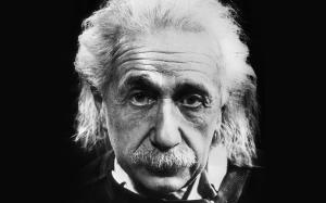Albert Einstein Portre Siyah Beyaz Ünlü Yüzler Kanvas Tablo