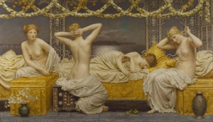 Albert Joseph Moore A Summer Night Yağlı Boya Sanat Kanvas Tablo