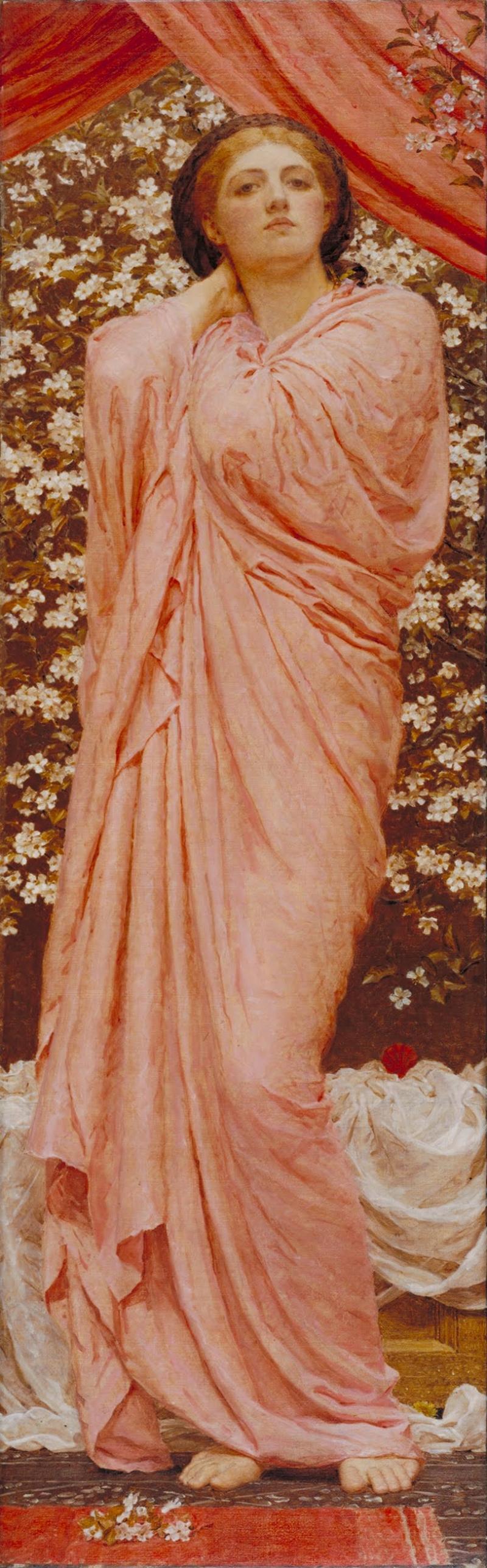 Albert Moore Blossoms Çiçekler Yağlı Boya Sanat Kanvas Tablo