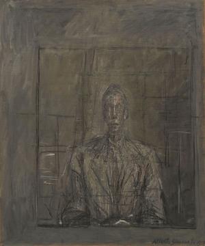 Alberto Giacometti  Peter Watson Portresi Klasik Sanat Canvas Tablo