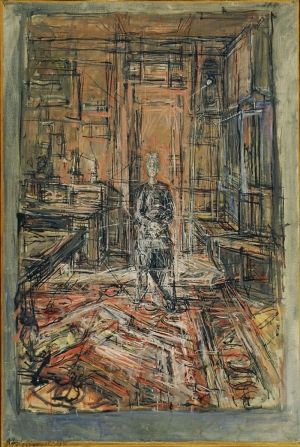 Alberto Giacometti  Ressamın Annesi Soyut Abstract Klasik Sanat Canvas Tablo