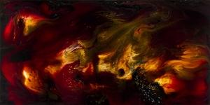 Alevler Yağlı Boya Sanat Kanvas Tablo