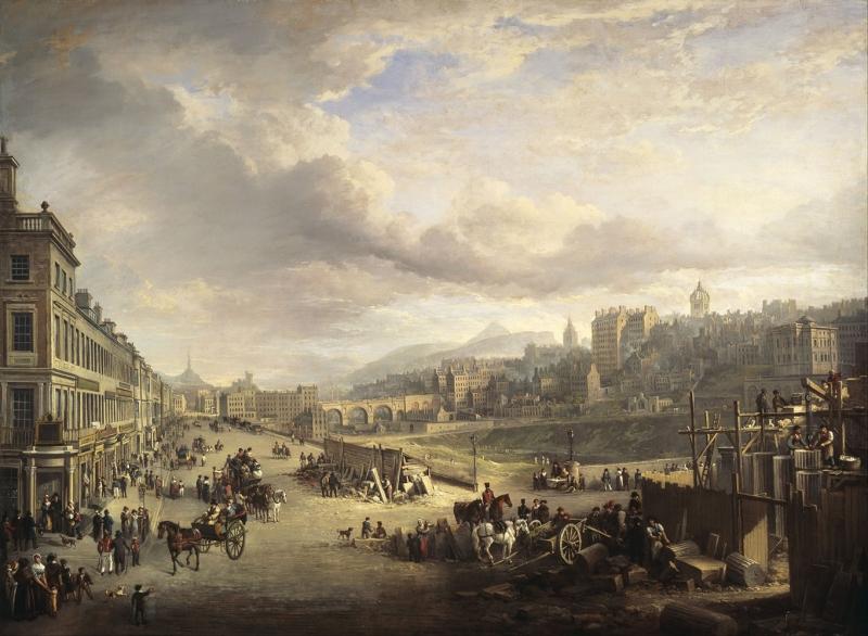 Alexander Nasmyth Prenses Caddesi İskoçya Yaglı Boya Reprodüksiyon Klasik Sanat Kanvas Tablo