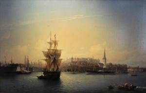 Alexey Bogolybov Tallinn Limanı Estonya Klasik Sanat Kanvas Tablo