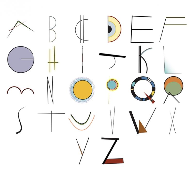 Alfabe Popüler Kültür Kanvas Tablo