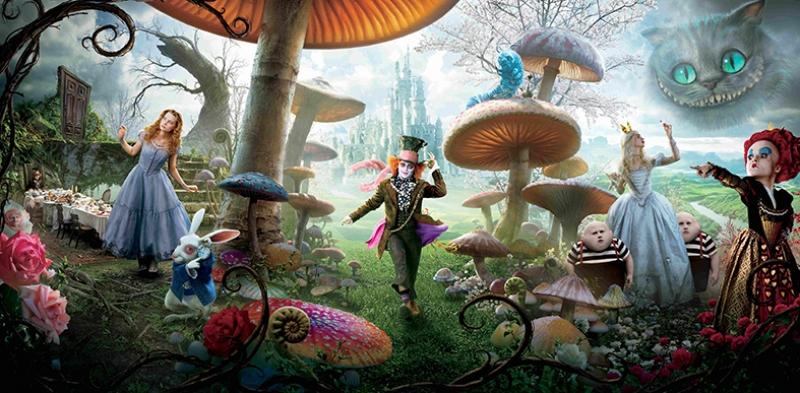Alice Harikalar Diyarında Tim Burton Kanvas Tablo