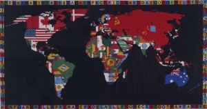 Alighiero E Boetti Dünya Haritası Soyut Abstract Klasik Sanat Canvas Tablo