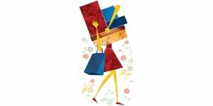 Alışveriş İllustrasyon Popüler Kültür Kanvas Tablo