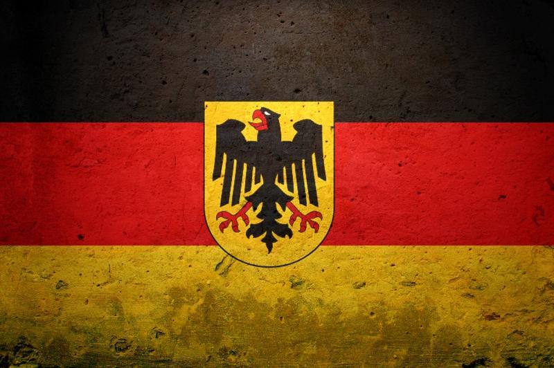 Alman Bayrağı, Eskitilmiş Retro Almanya Bayrağı Kanvas Tablo