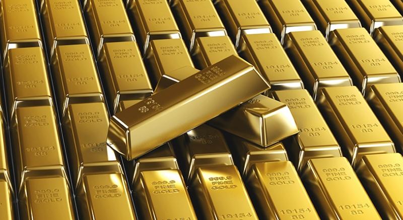 Altın Külçeleri Fotoğraf Kanvas Tablo