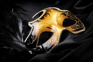 Altın Maske Fotoğraf Kanvas Tablo