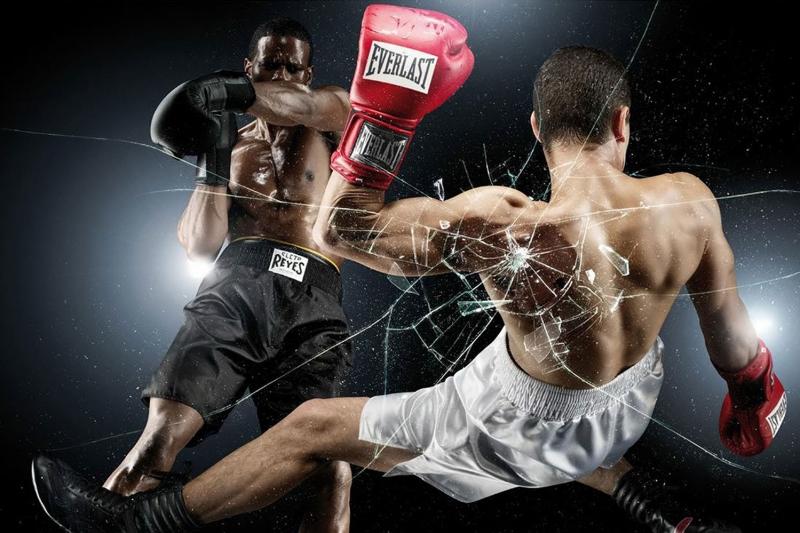 Altın Yumruklar Nakavt Boks Spor Kanvas Tablo