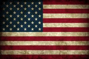 Amerikan Bayrağı, Eskitilmiş Retro USA Bayrağı Kanvas Tablo