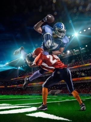 Amerikan Futbolu 4 Spor Kanvas Tablo