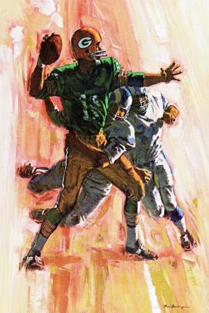 Amerikan Futbolu Modern Sanat Kanvas Tablo