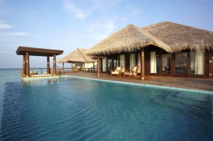 Anantara Kihavah Villaları Maldivler Doğa Manzaraları Kanvas Tablo