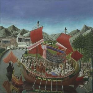 Andre Bauchant 1 Klopatra'nın Teknesi Klasik Sanat Canvas Tablo