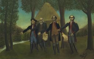 Andre Bauchant 2 Amerika'nın Özgürlüğünün İlanı Klasik Sanat Canvas Tablo