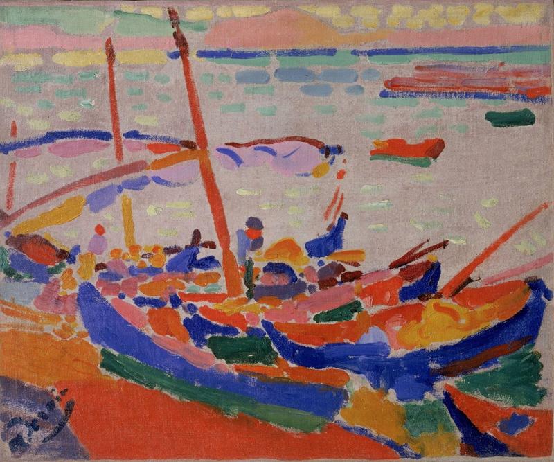 Andre Derain Balıkçı Tekneleri Deniz Manzarası Klasik Sanat Canvas Tablo