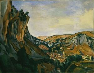 Andre Derain Dağlar Arasındaki Vadi Manzara Klasik Sanat Canvas Tablo