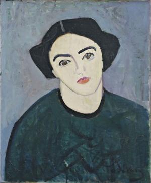 Andre Derain Madame Derain Yeşiller İçinde Reprödüksiyon Klasik Sanat Canvas Tablo