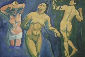 Andre Derain Yıkananlar NÜ Klasik Sanat Canvas Tablo