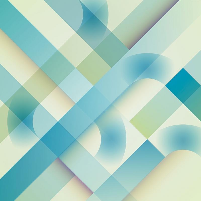 Android Mavi Çizgiler Abstract Kanvas Tablo