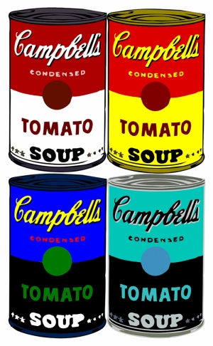 Andy Warhol Campbells Soup Pop Art Yağlı Boya Sanat Kanvas Tablo