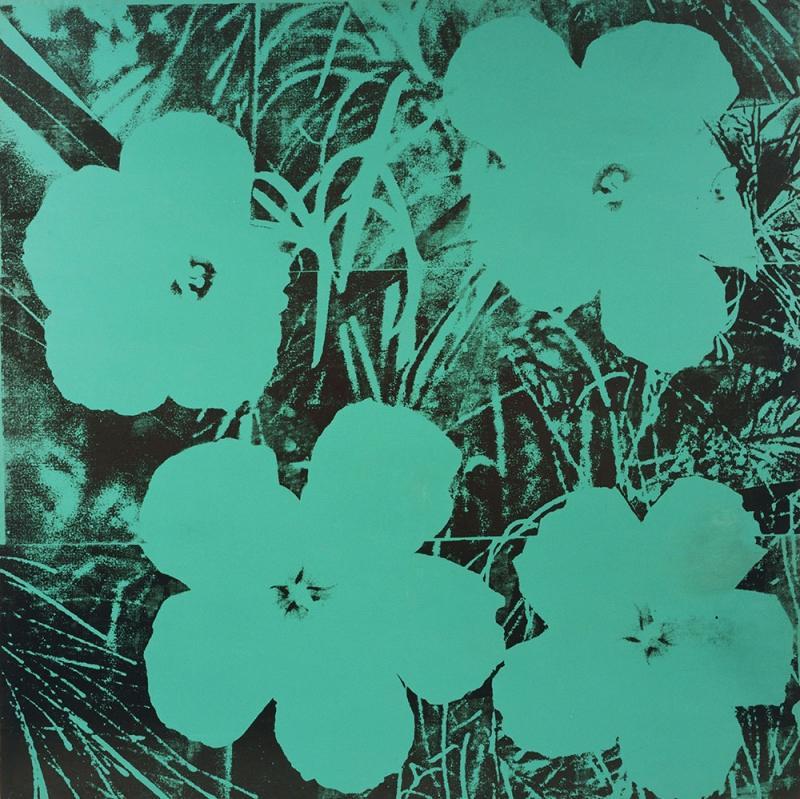 Andy Warhol Çiçekler Klasik Sanat Kanvas Tablo