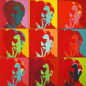 Andy Warhol Kendi Portresi Klasik Sanat Kanvas Tablo