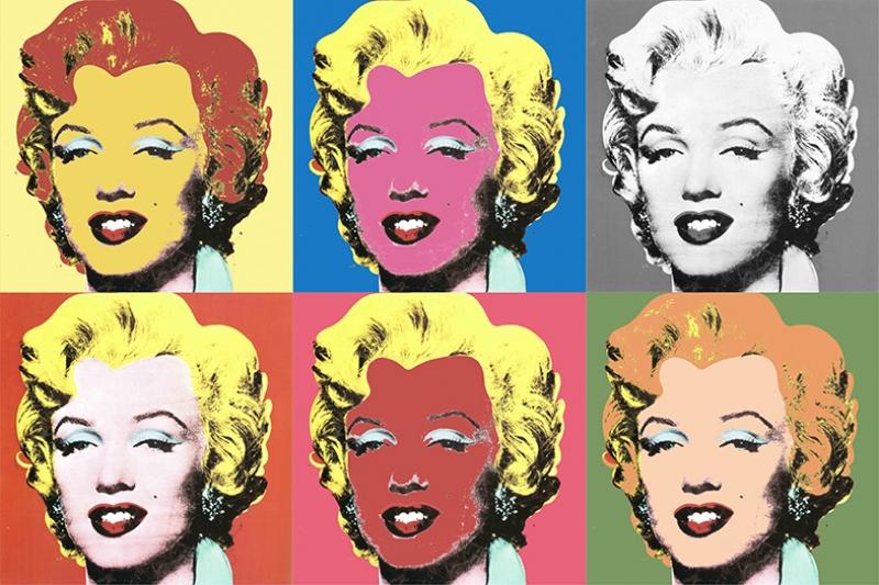 Andy Warhol Marilyn Monroe Kolaj Yağlı Boya Sanat Kanvas Tablo